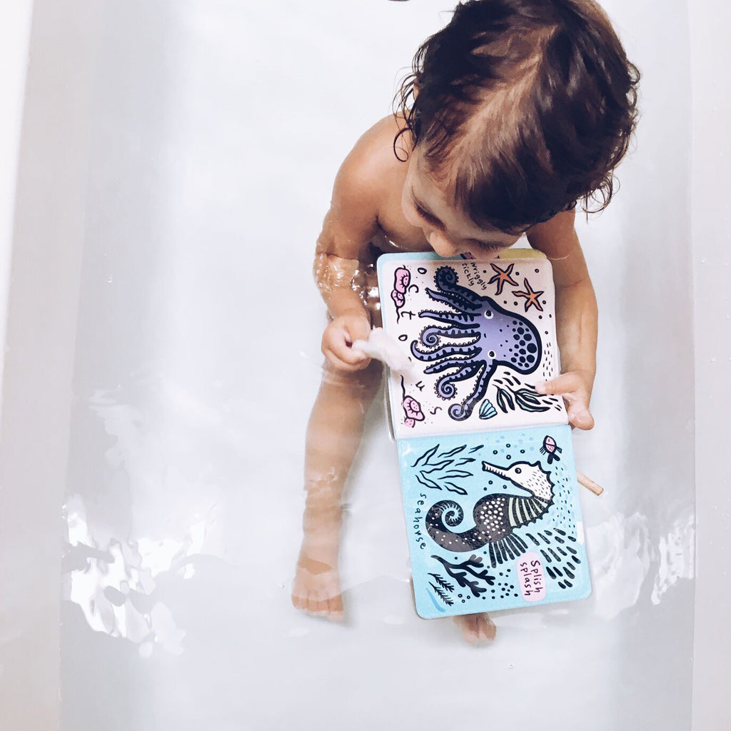 Wee Gallery Bath Book Who's In The Ocean - UrbanBaby shop