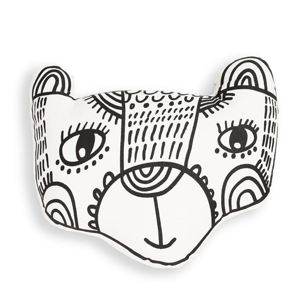 Wee Gallery Organic Throw Pillow - Bear - UrbanBaby shop