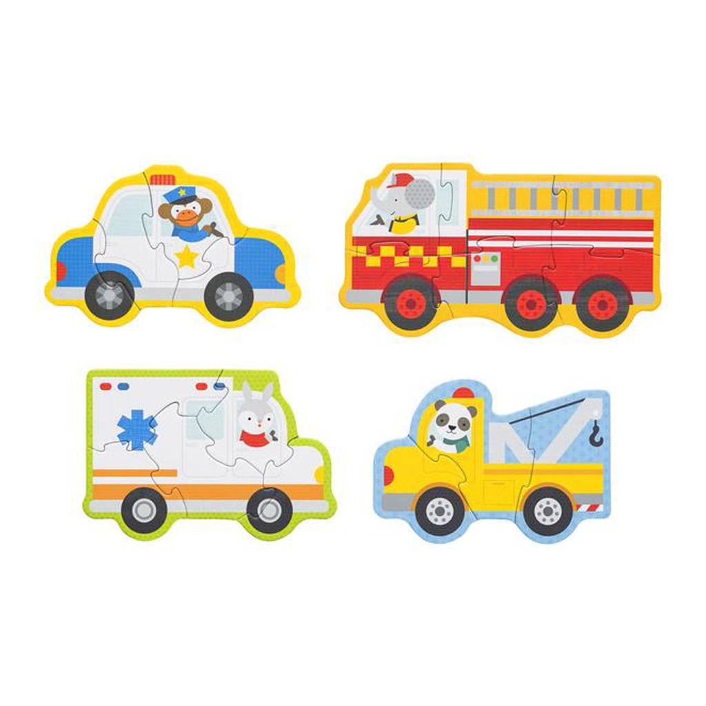 Petit Collage Beginner Puzzle - Rescue Vehicle