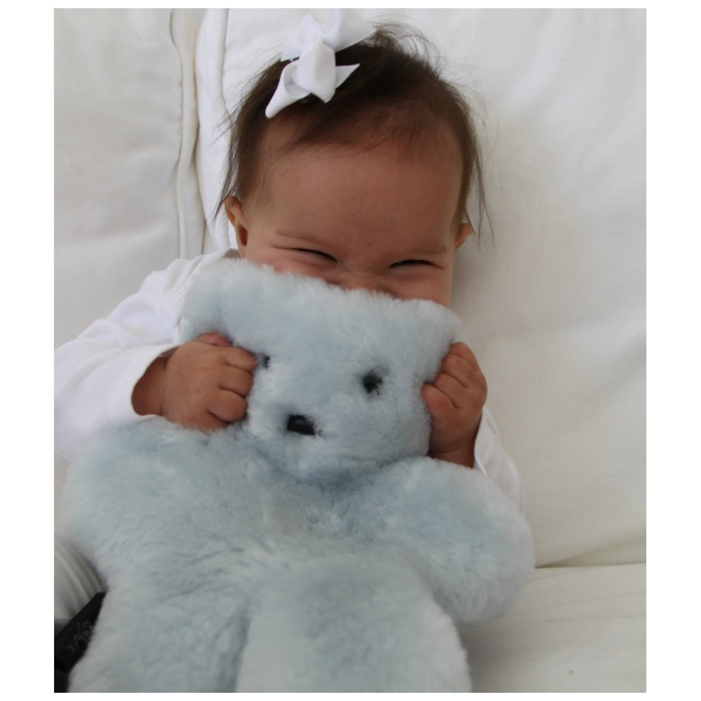FLATOUT Sheepskin Bear - Blue - UrbanBaby shop