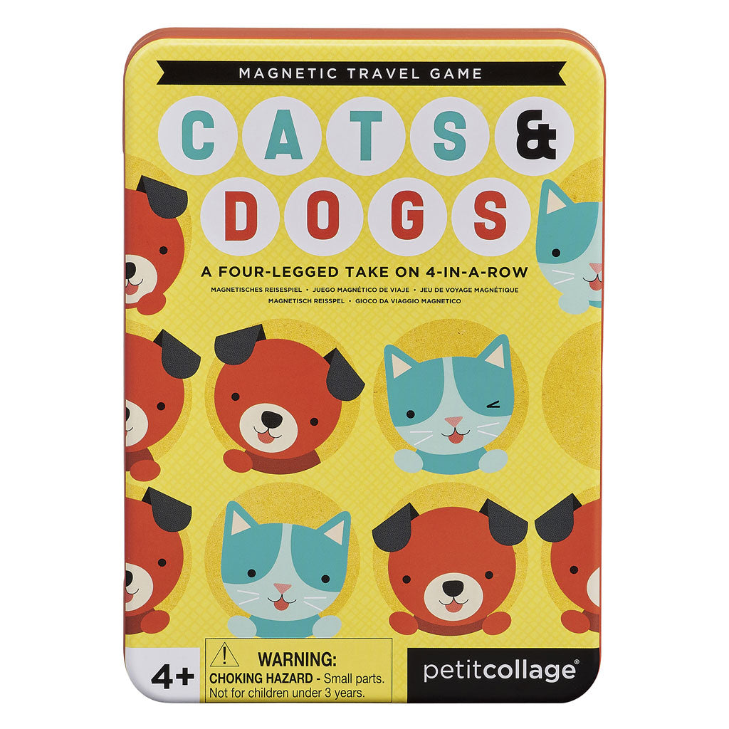 Petit Collage Magnetic Travel Game - Cats and Dogs