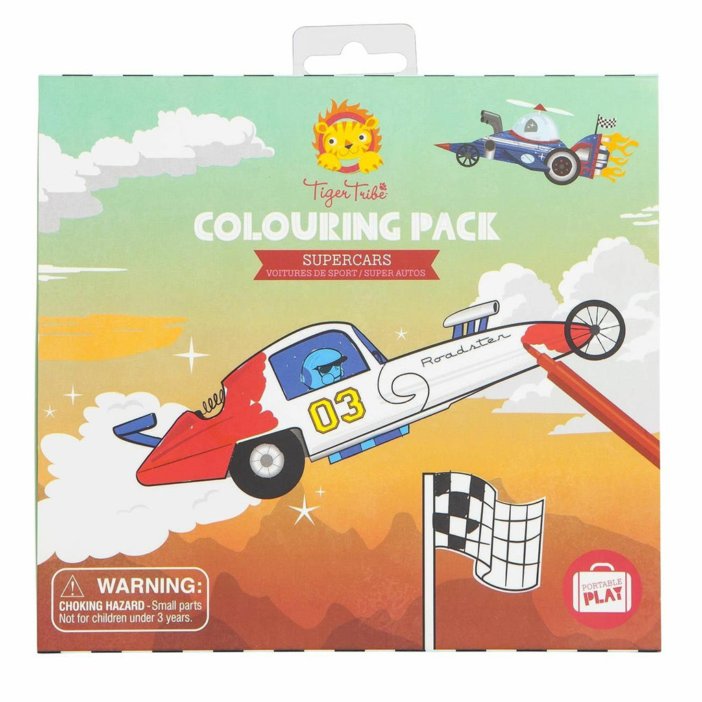 Tiger Tribe Colouring Pack - Supercars - UrbanBaby shop