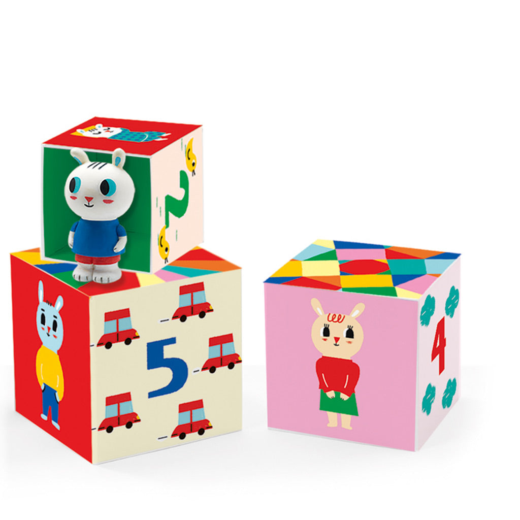 Djeco Bunny with Cat Blocks - UrbanBaby shop