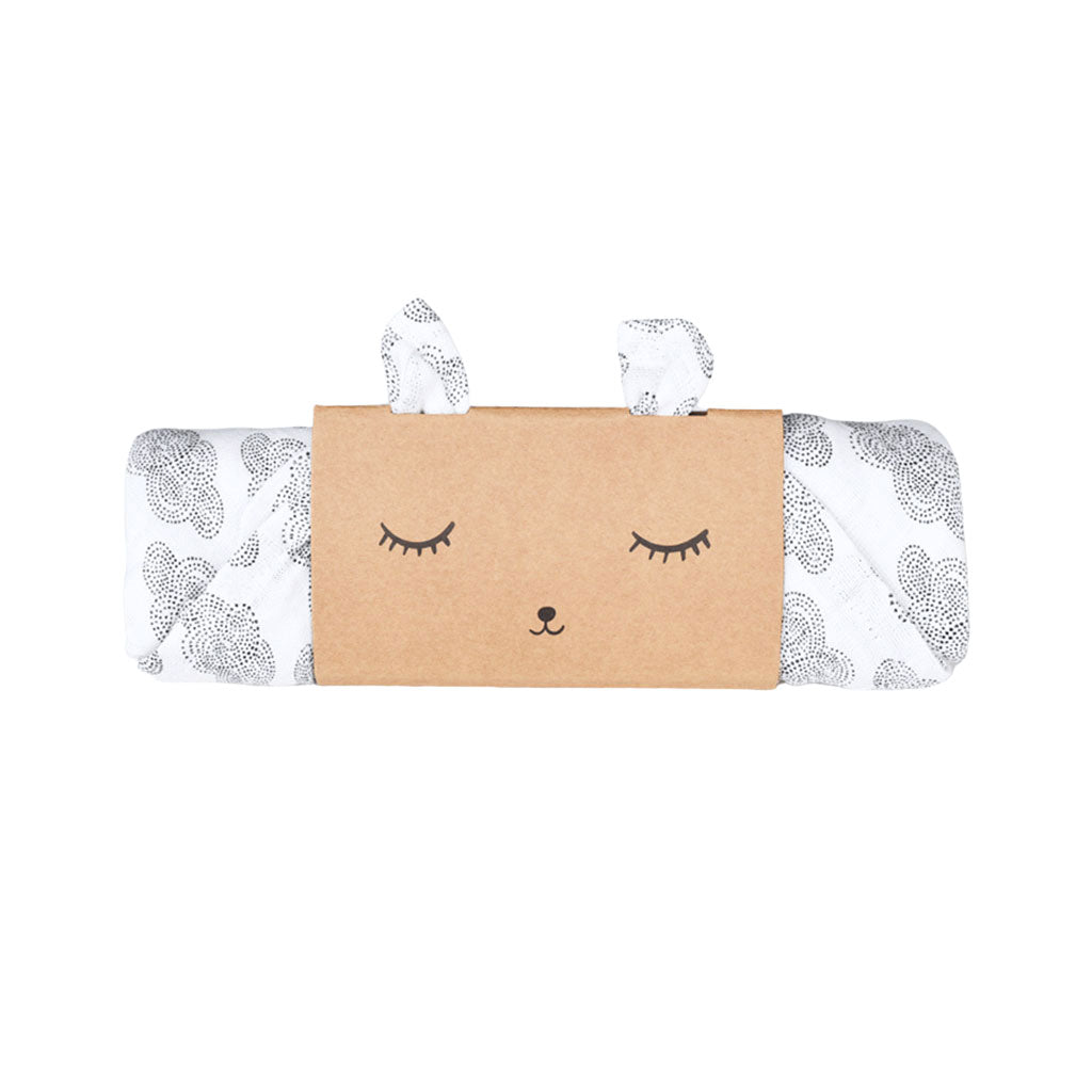 Wee Gallery Organic Muslin Swaddle - Cloud - UrbanBaby shop