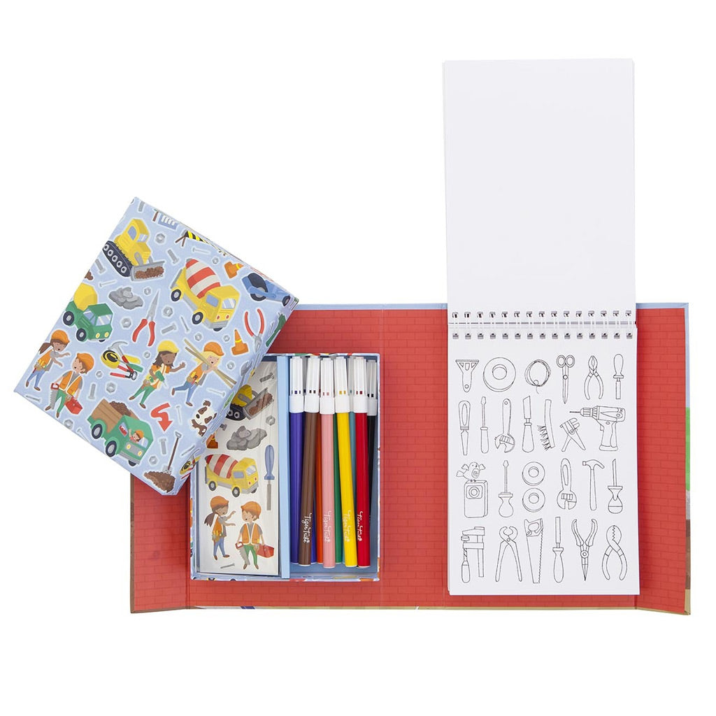 Tiger Tribe Colouring Set - Construction - UrbanBaby shop