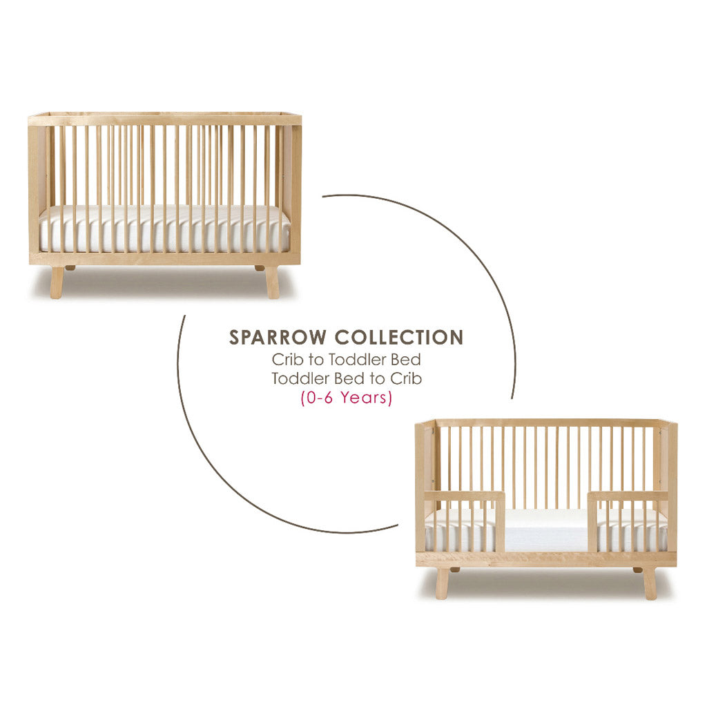 Oeuf Sparrow Toddler Bed Conversion Kit - Walnut - UrbanBaby shop