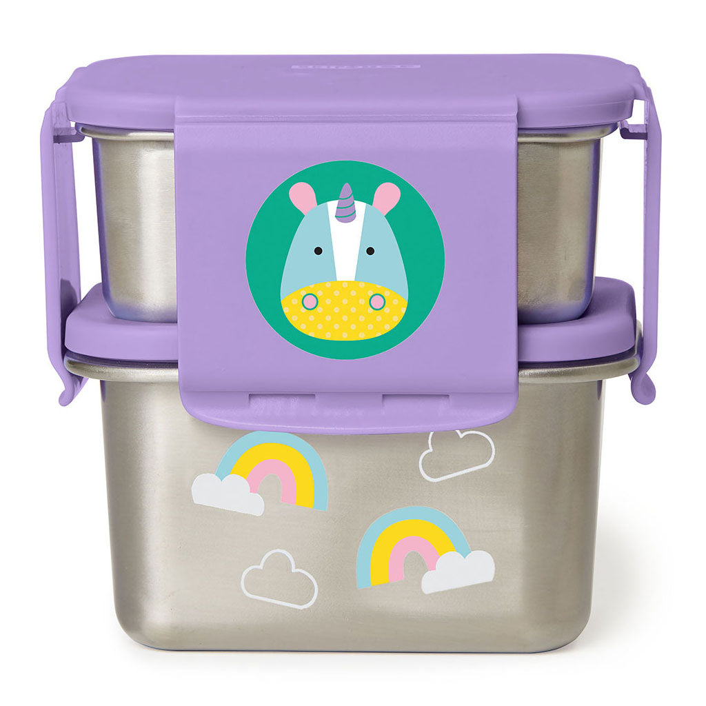 Skip Hop Zoo Stainless Steel Lunch Kit - Unicorn