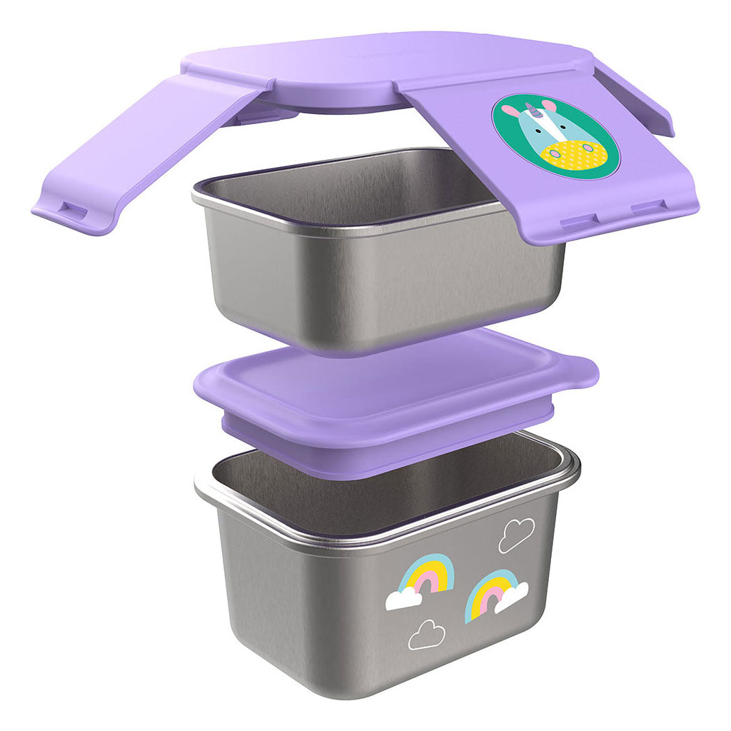 Skip Hop Zoo Stainless Steel Lunch Kit - Unicorn - UrbanBaby shop