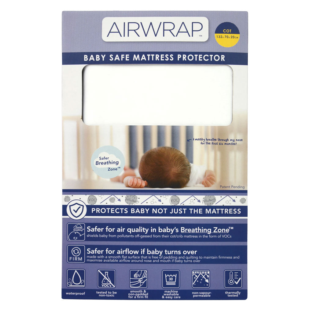Airwrap Baby Safe Mattress Protector - Cot