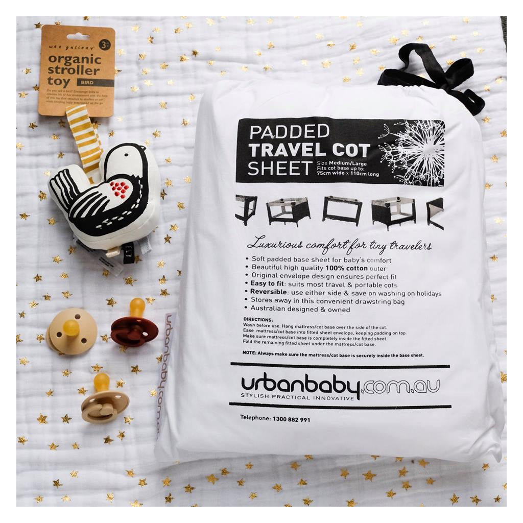 Padded Travel Cot Sheet Med/Lg - UrbanBaby shop