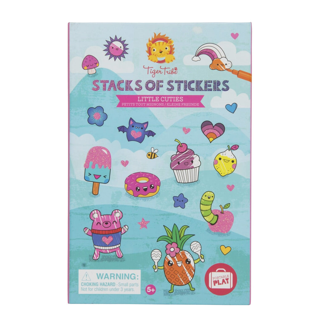 Tiger Tribe Stacks of Stickers - Little Cuties - UrbanBaby shop