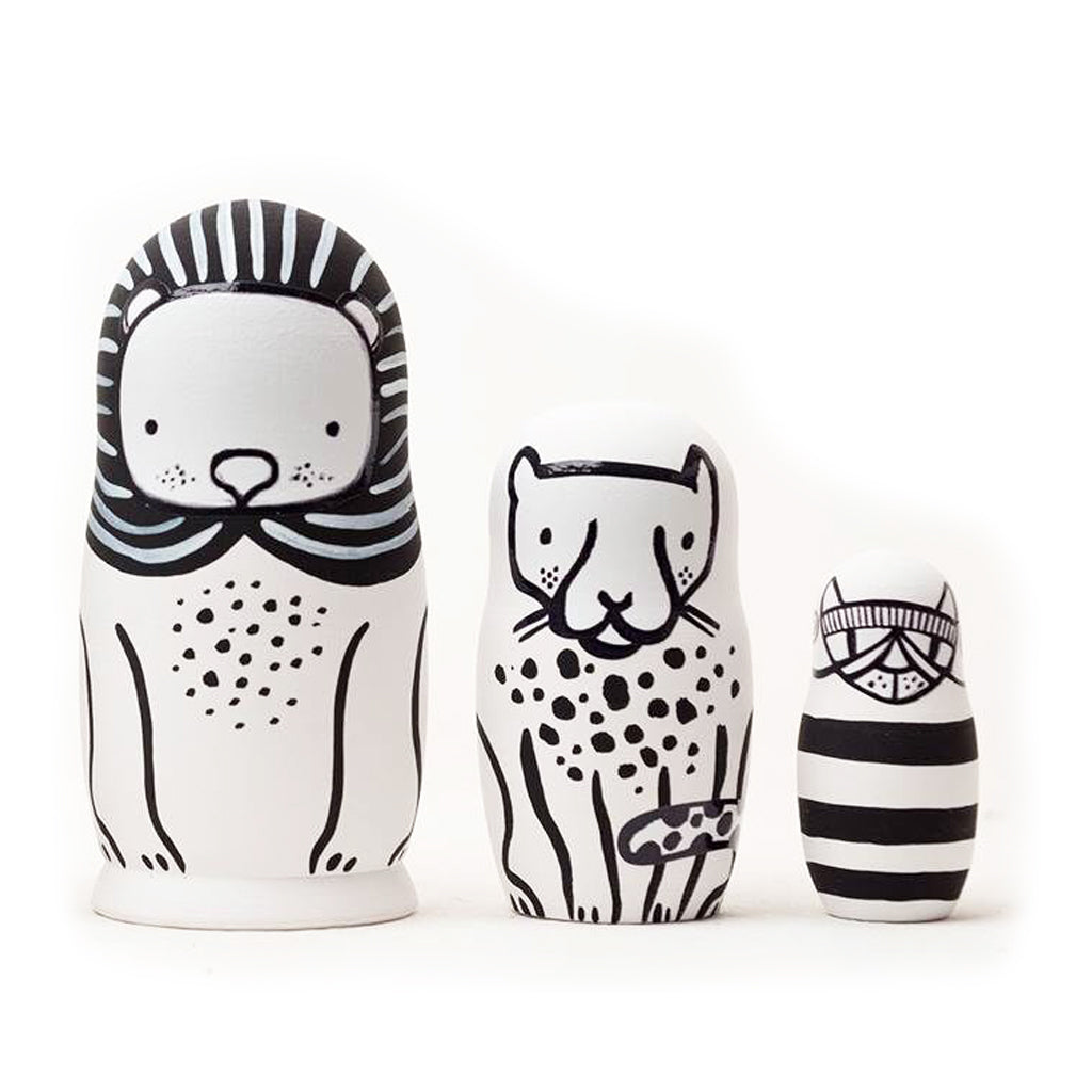 Wee Gallery Nesting Dolls - Cats Big and Small - UrbanBaby shop