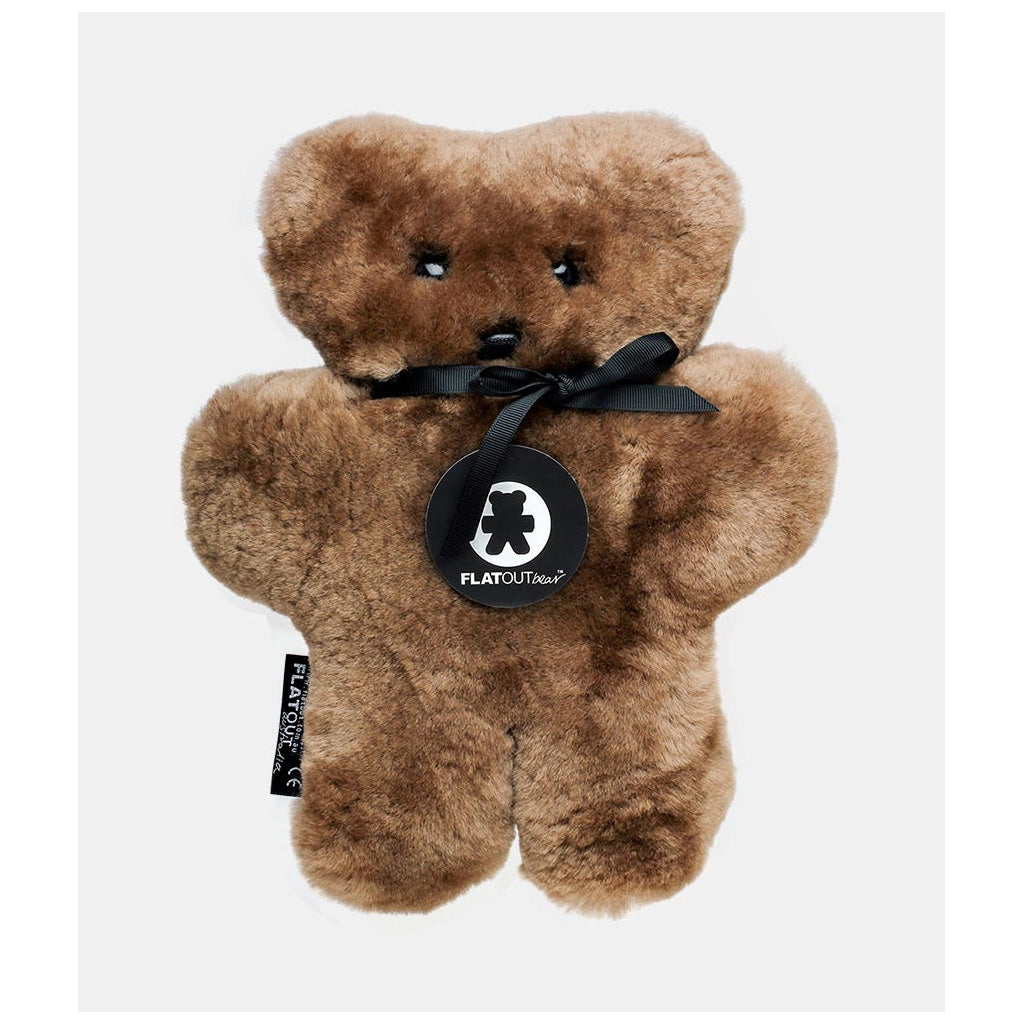 FLATOUT Sheepskin Bear Chocolate - UrbanBaby shop