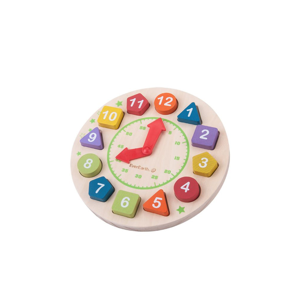 EverEarth Wooden Clock - UrbanBaby shop