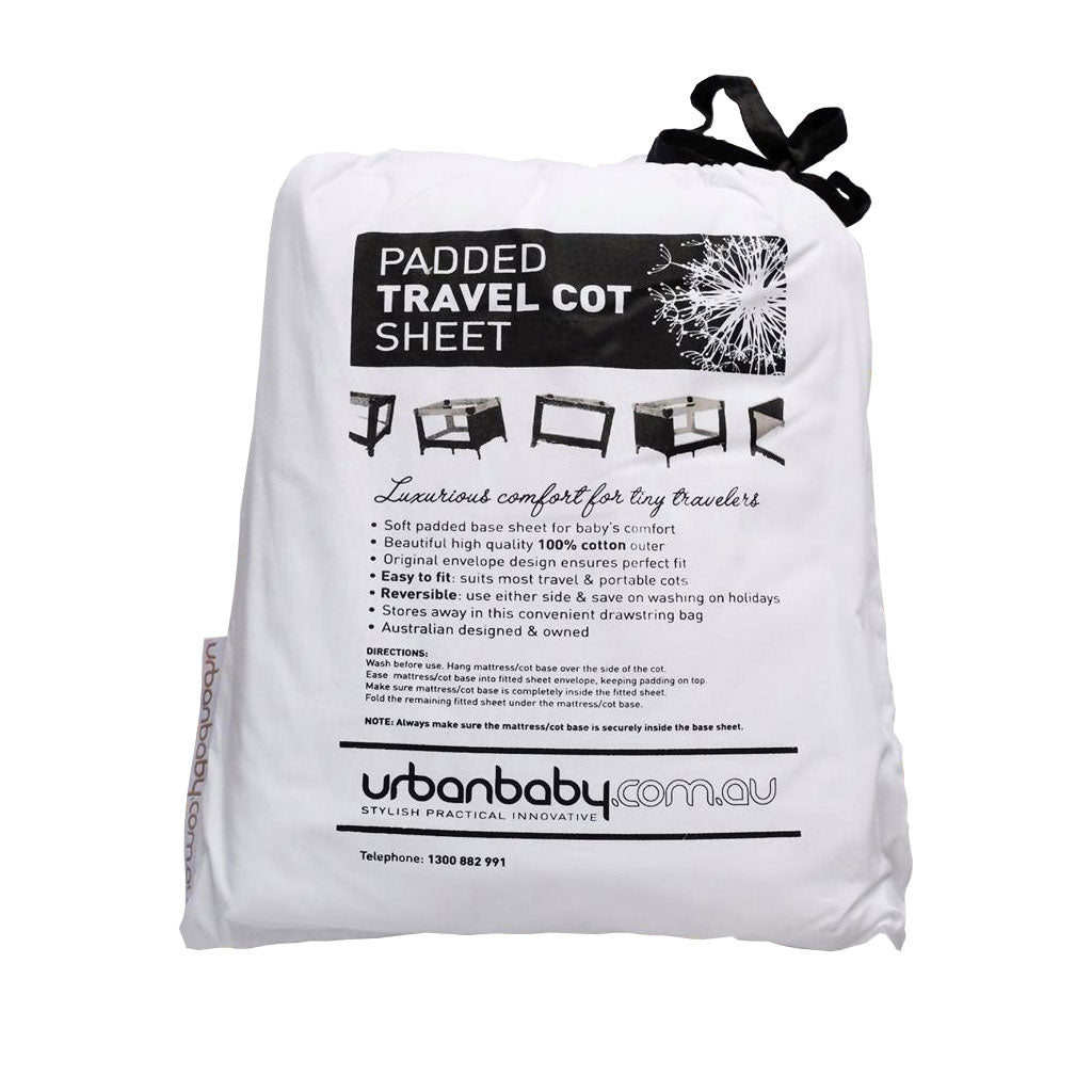 Padded Travel Cot Sheet Small - UrbanBaby shop