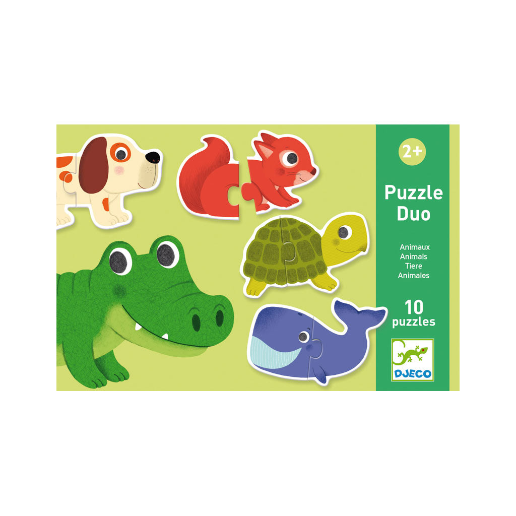 Djeco Duo Puzzle Animals - UrbanBaby shop