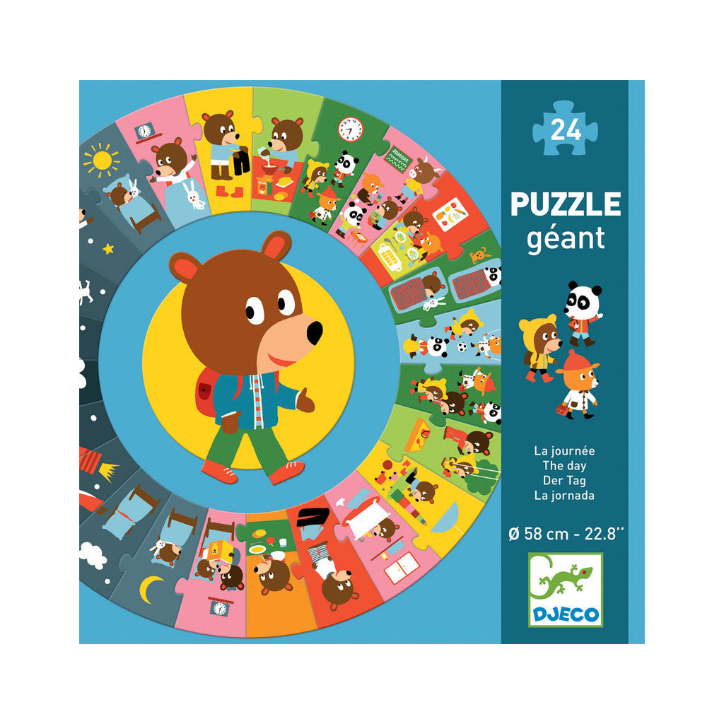 Djeco Giant Puzzle - The Day 24pc - UrbanBaby shop