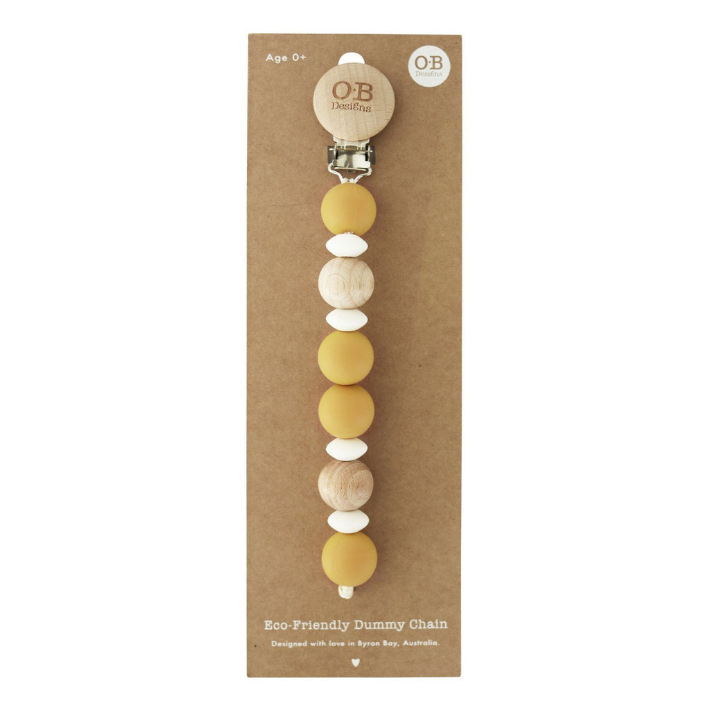 O.B Designs Eco-Friendly Dummy Chain - Turmeric - UrbanBaby shop
