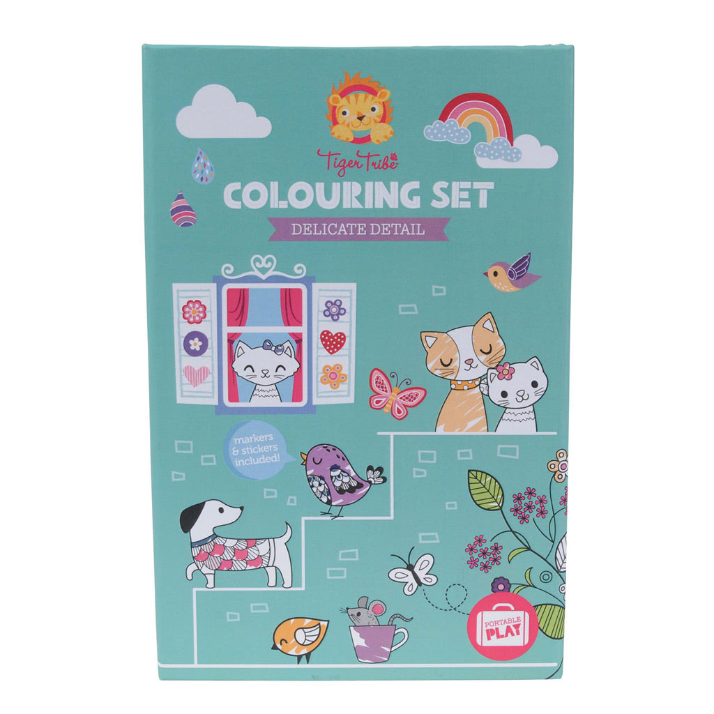 Tiger Tribe Colouring Set - Delicate Detail - UrbanBaby shop