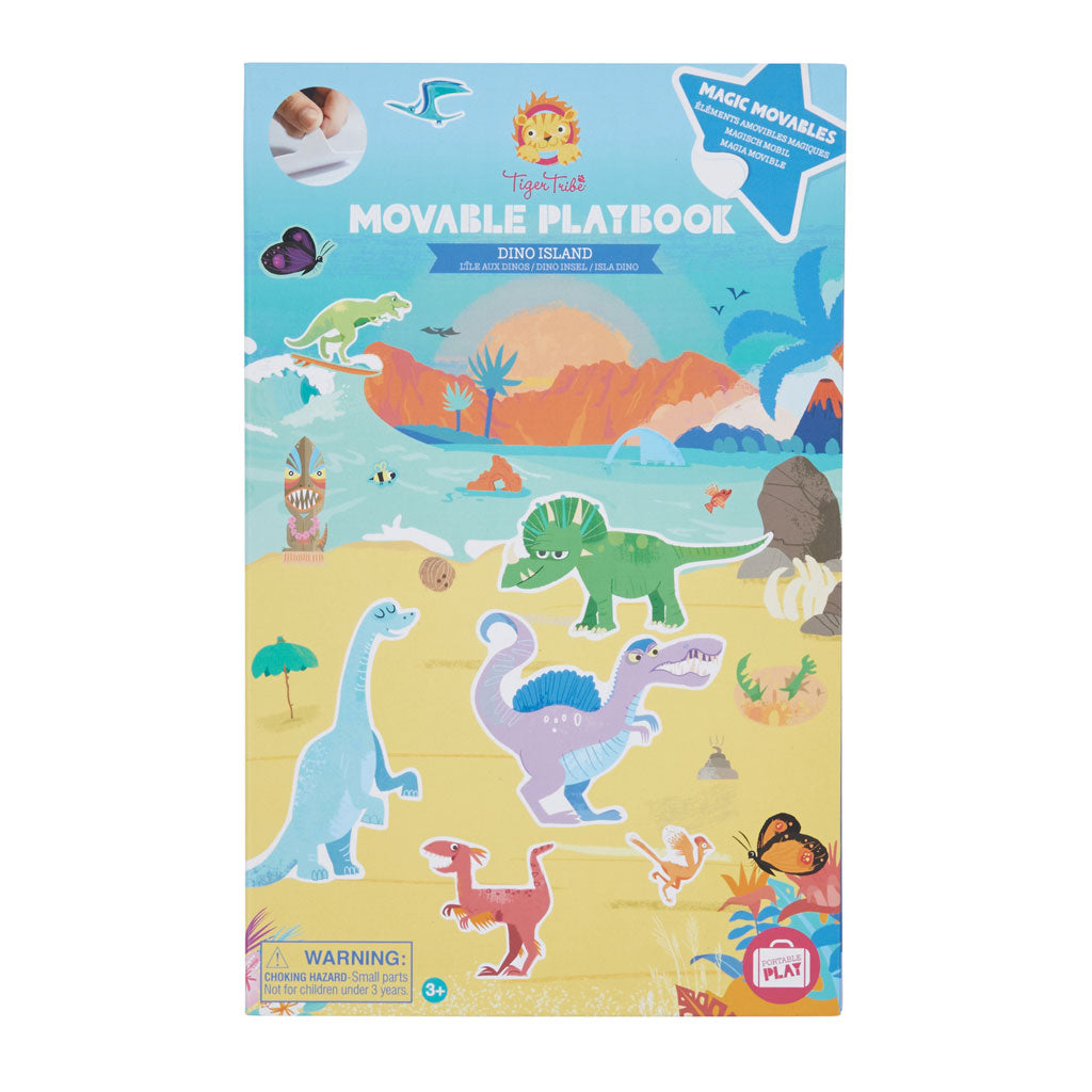Tiger Tribe Movable Playbook - Dino Island - UrbanBaby shop