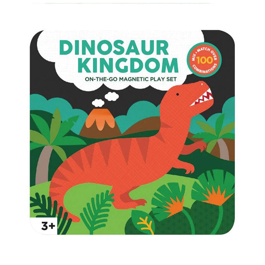 Petit Collage On The Go Magnet Tin - Dinosaur Kingdom - UrbanBaby shop