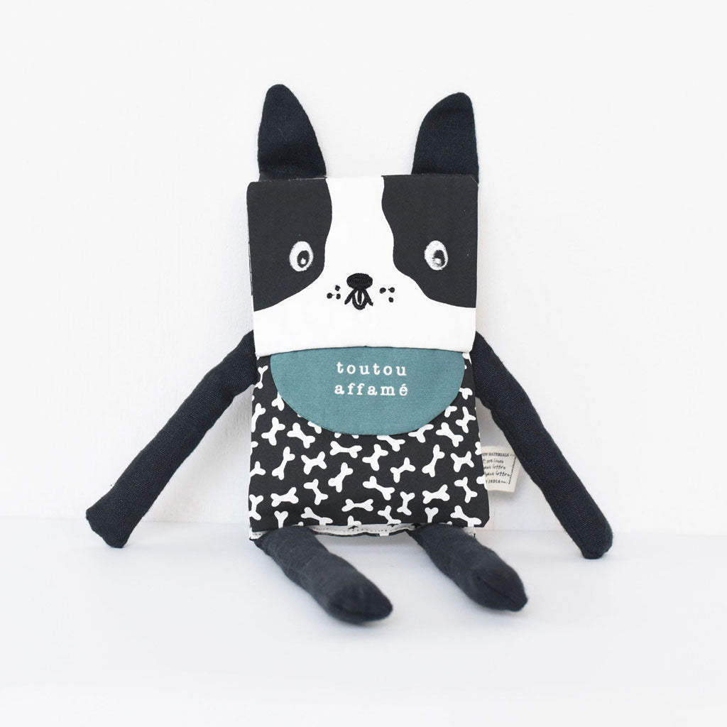 Wee Gallery Organic Flippy Friend Dog (French)