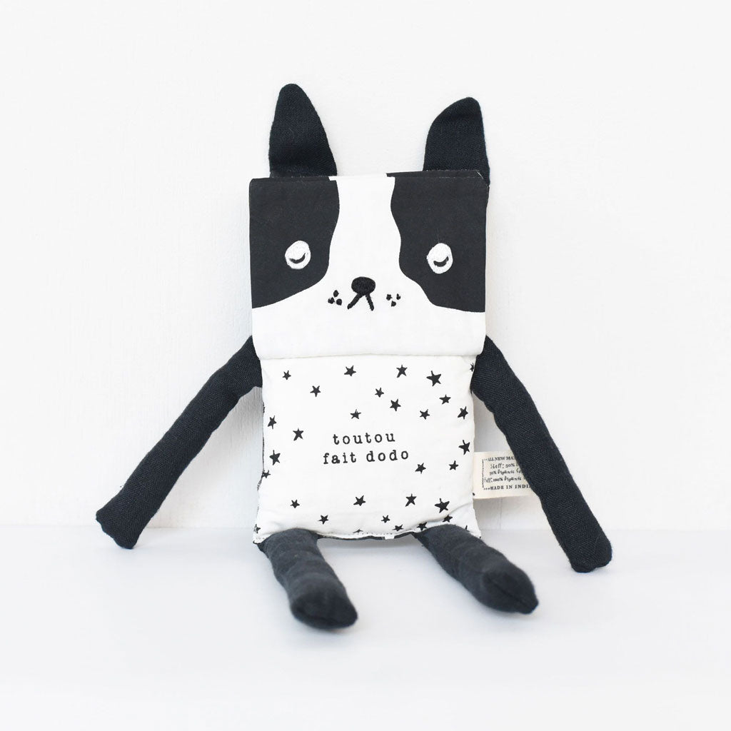 Wee Gallery Organic Flippy Friend - Dog (French) - UrbanBaby shop
