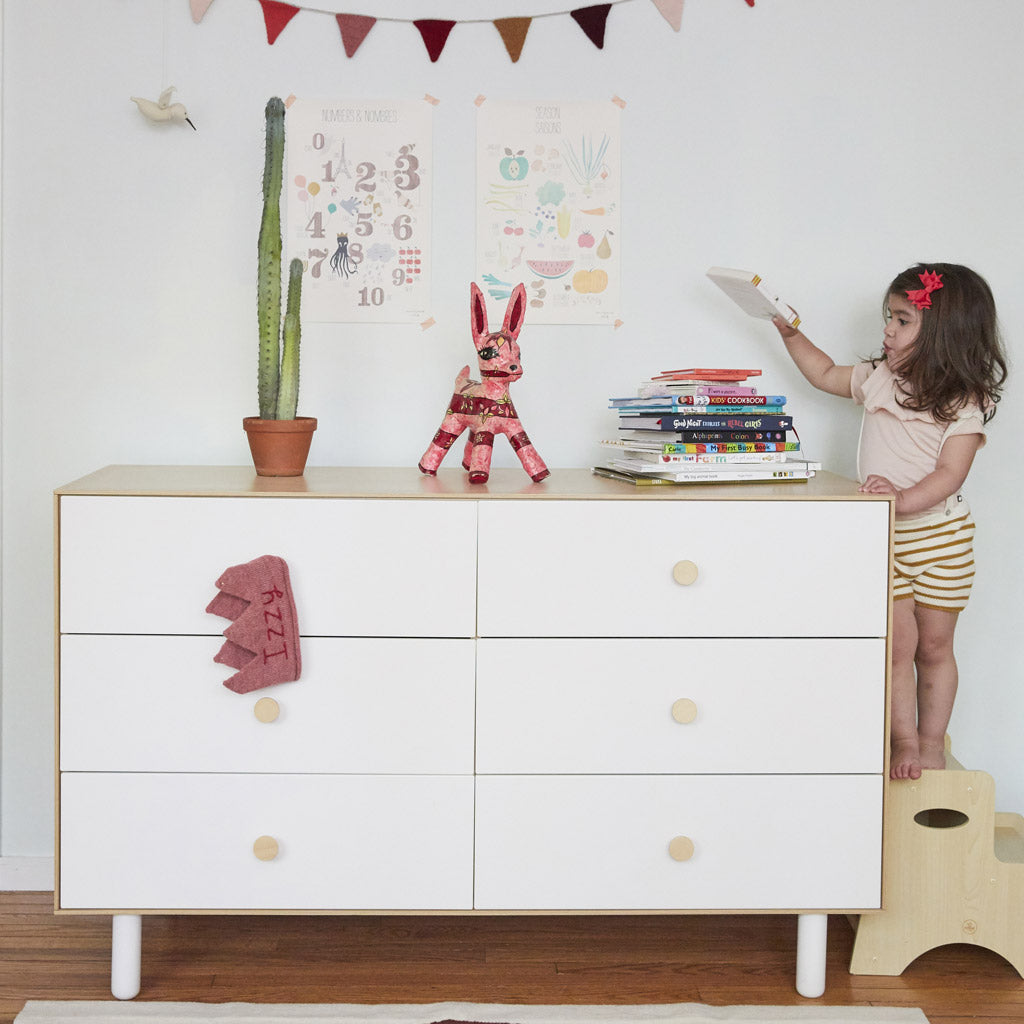 Oeuf Merlin 6 Drawer Dresser for Fawn - White