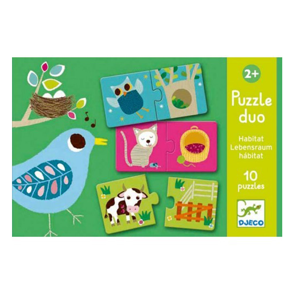 Djeco Duo Puzzle Habitat - UrbanBaby shop