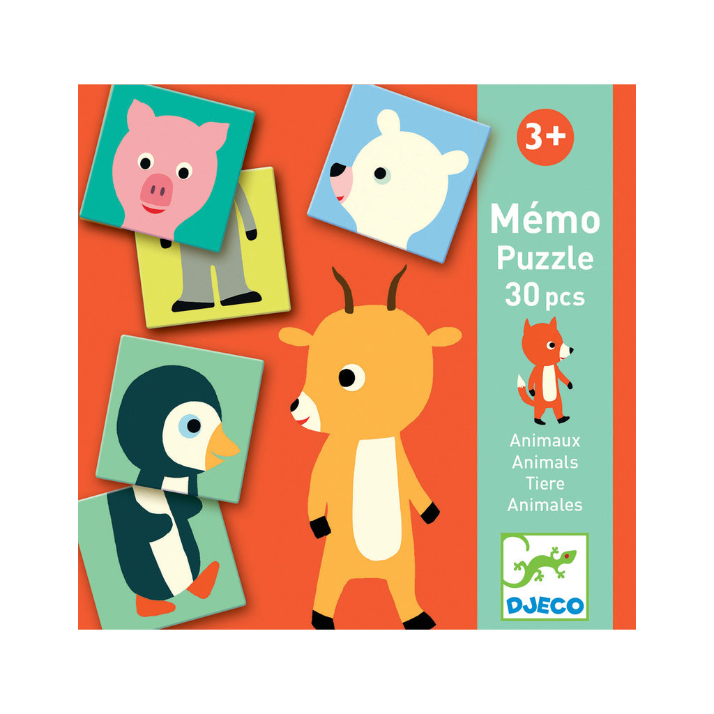 Djeco Memo Animals Puzzle Memory Game - UrbanBaby shop