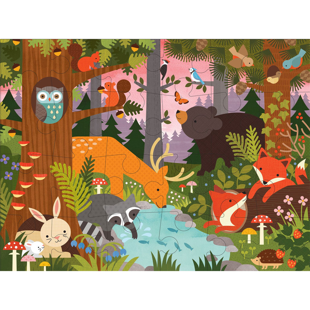Petit Collage Floor Puzzle Enchanted Woodland - UrbanBaby shop