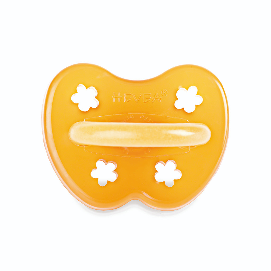 Hevea Baby Natural Rubber Anatomical Pacifier - Flowers