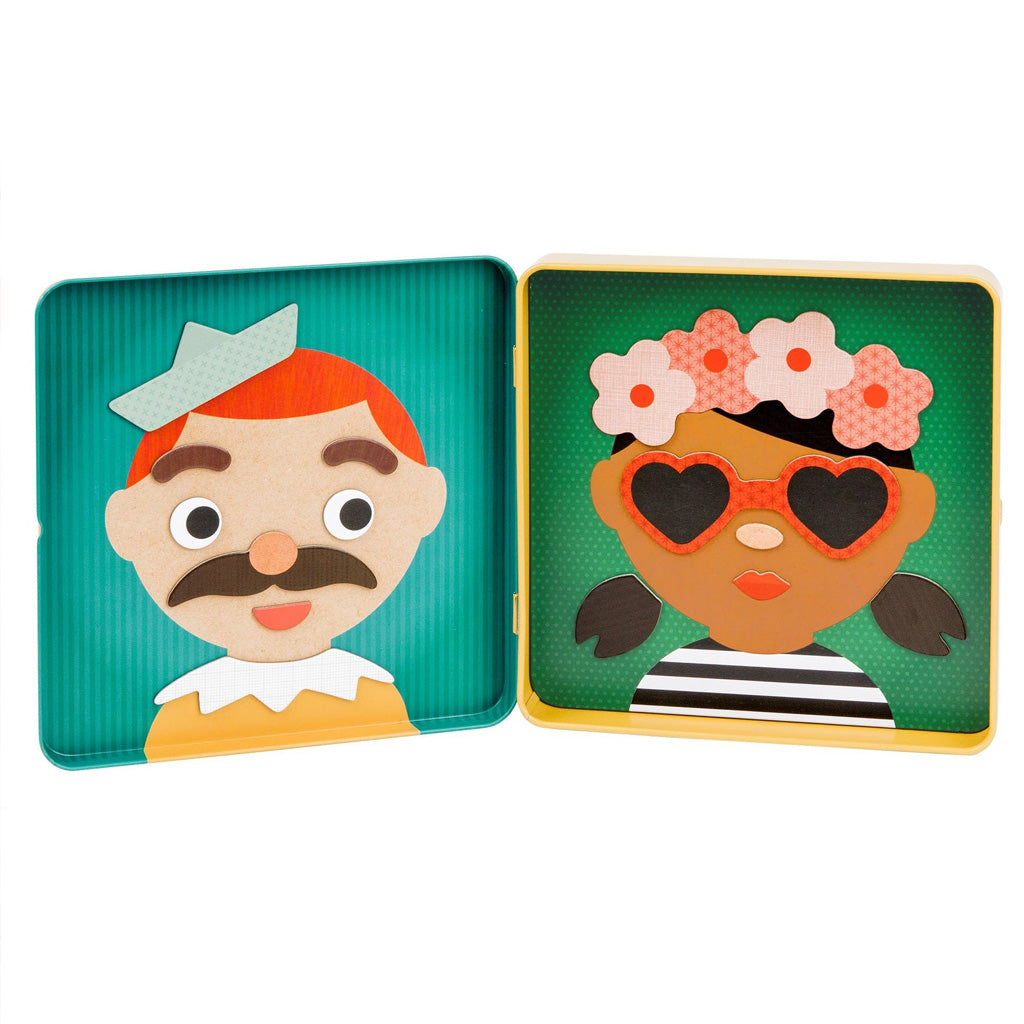 Petit Collage On The Go Magnet Tin Funny Faces - UrbanBaby shop