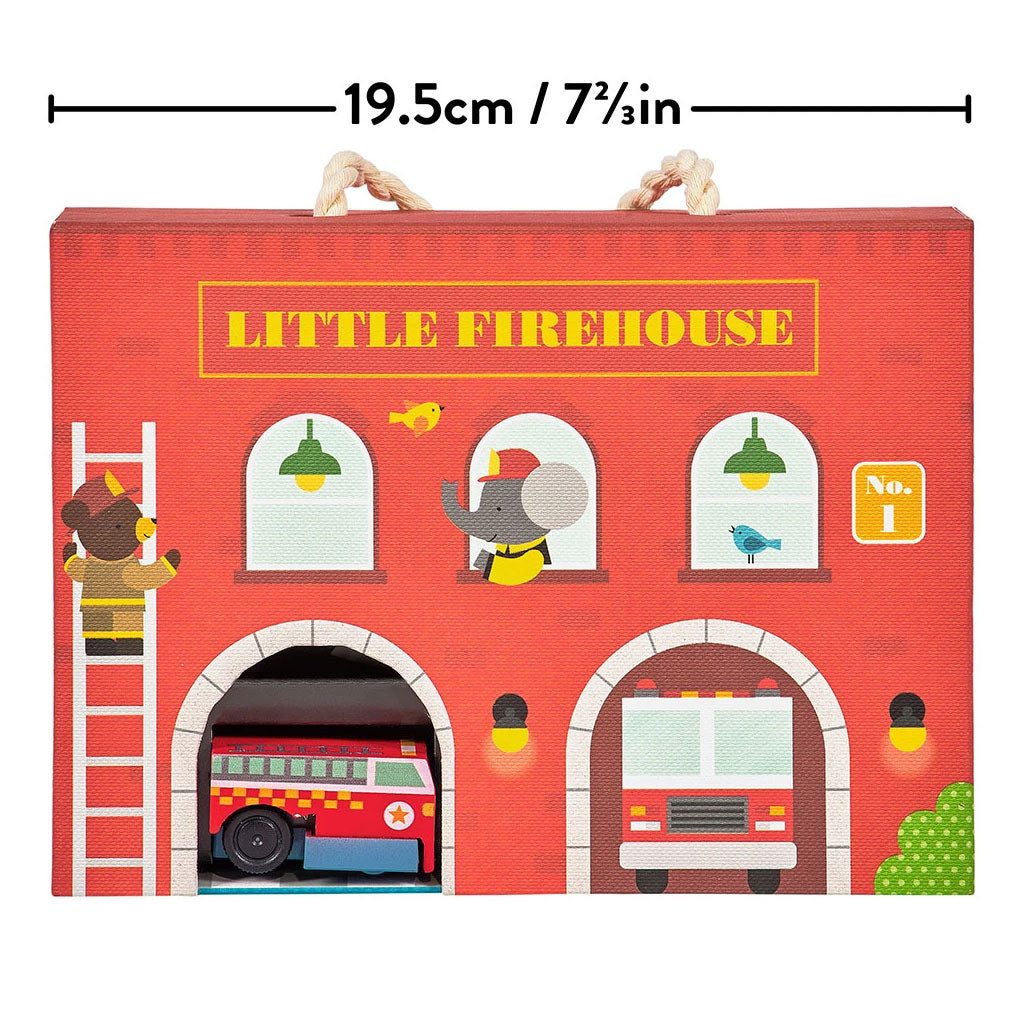 Petit Collage Wind Up and Go Playset - Fire Station - UrbanBaby shop