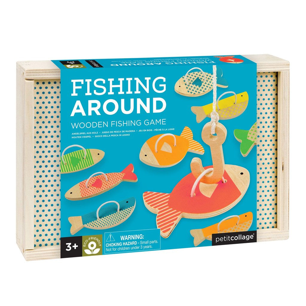 Petit Collage Wooden Game Fishing Around - UrbanBaby shop