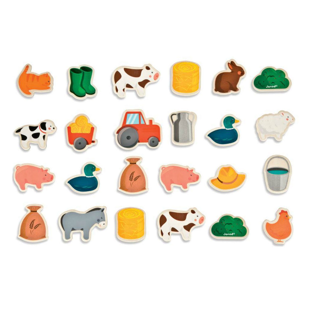 Janod Magnets - Farm - UrbanBaby shop