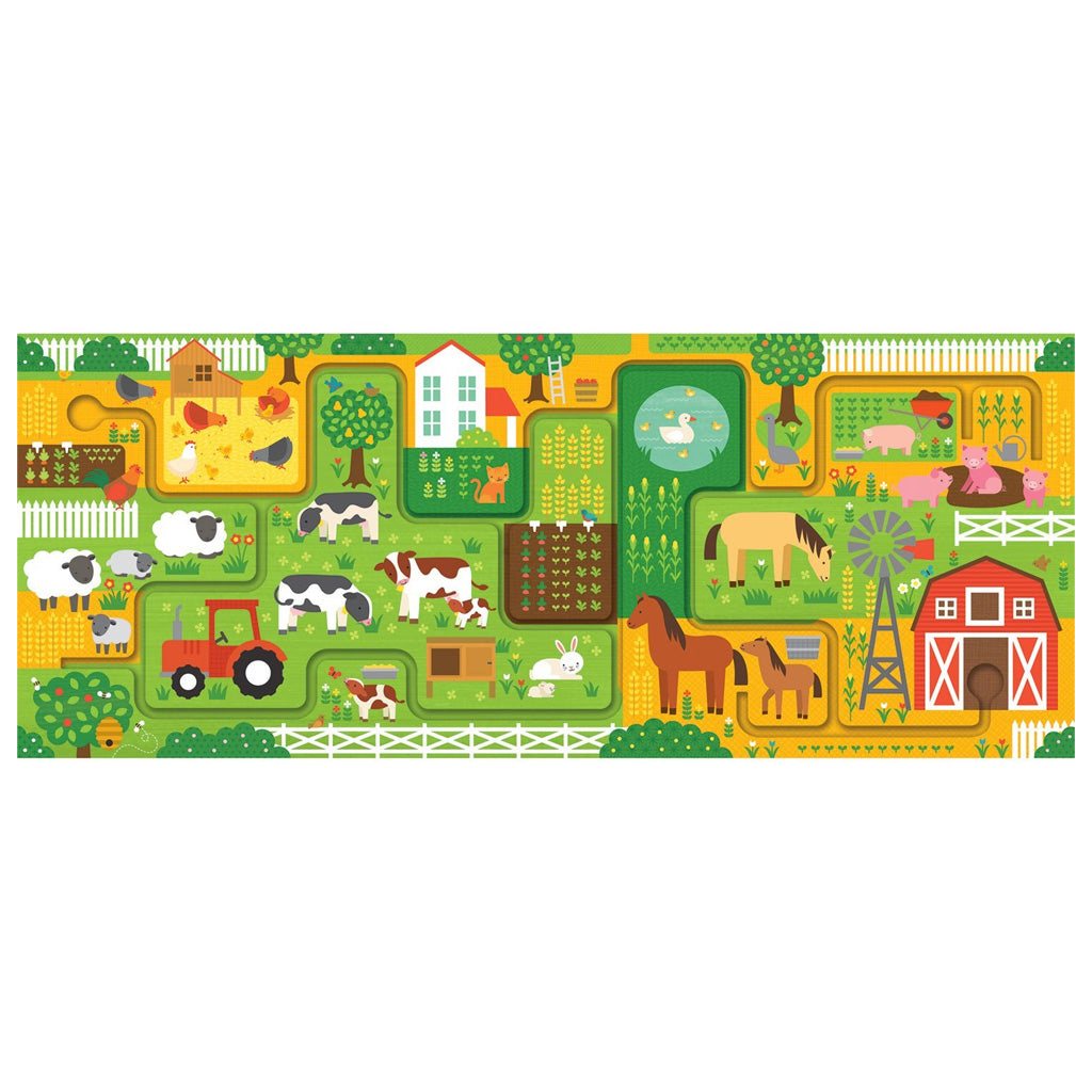 Petit Collage Follow and Spot Puzzle At The Farm - UrbanBaby shop