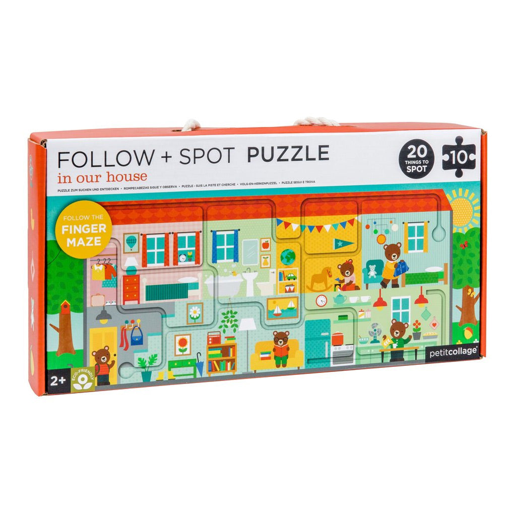 Petit Collage Follow and Spot Puzzle In Our House - UrbanBaby shop