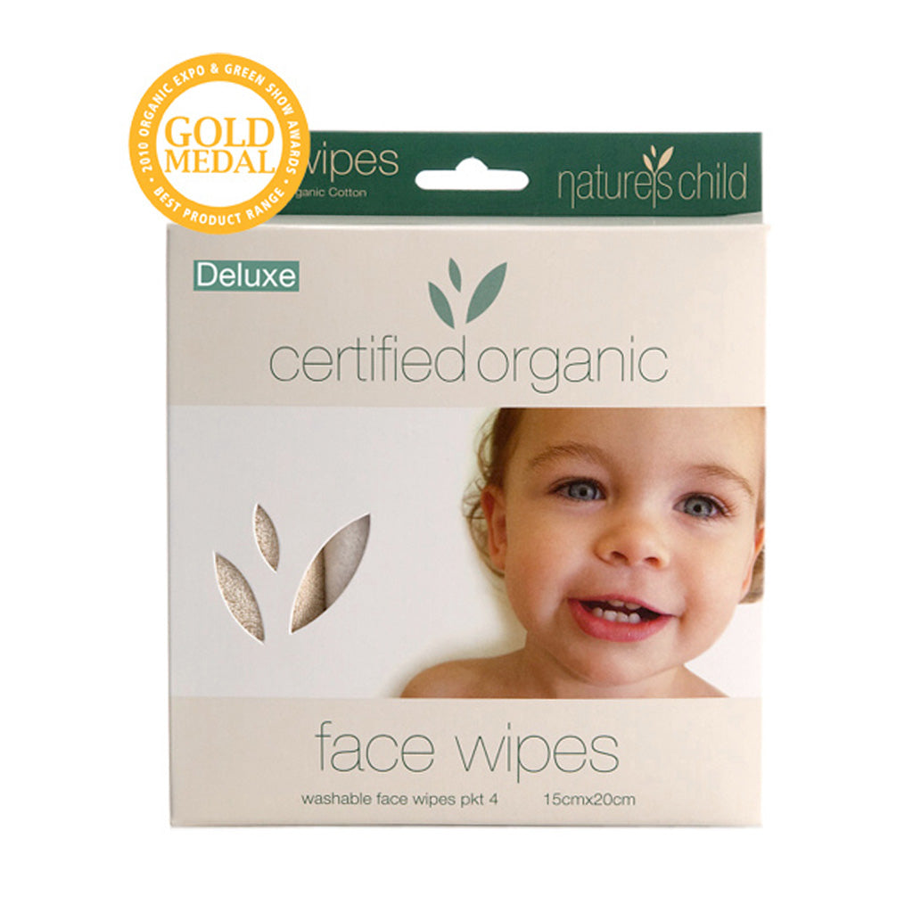 Nature's Child Organic Cotton Face Wipes 4PK - UrbanBaby shop