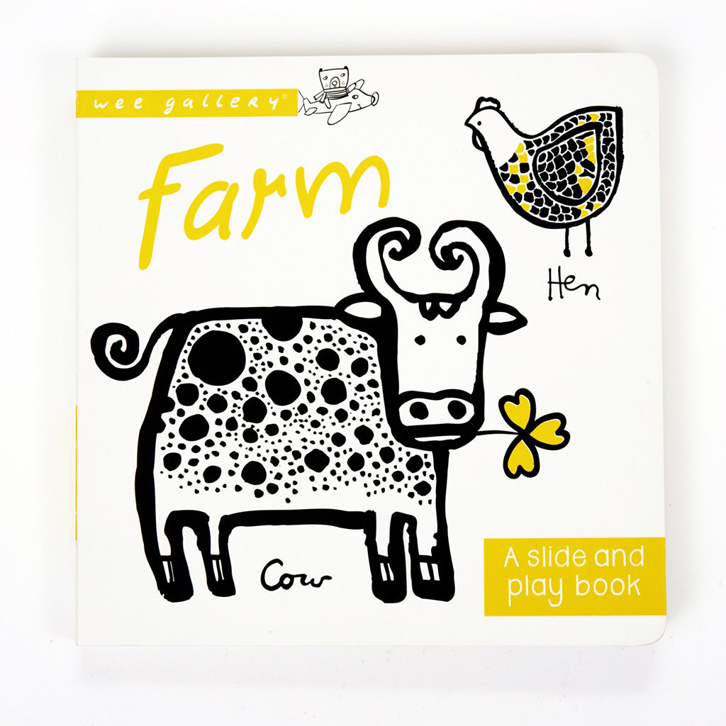 Wee Gallery Slide & Play Board Book Farm - UrbanBaby shop