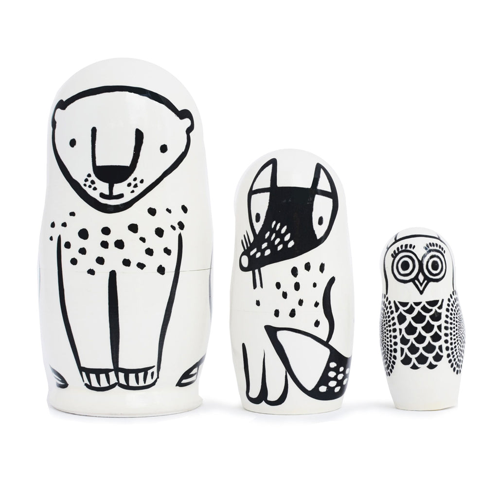 Wee Gallery Nesting Dolls - Forest Friends - UrbanBaby shop