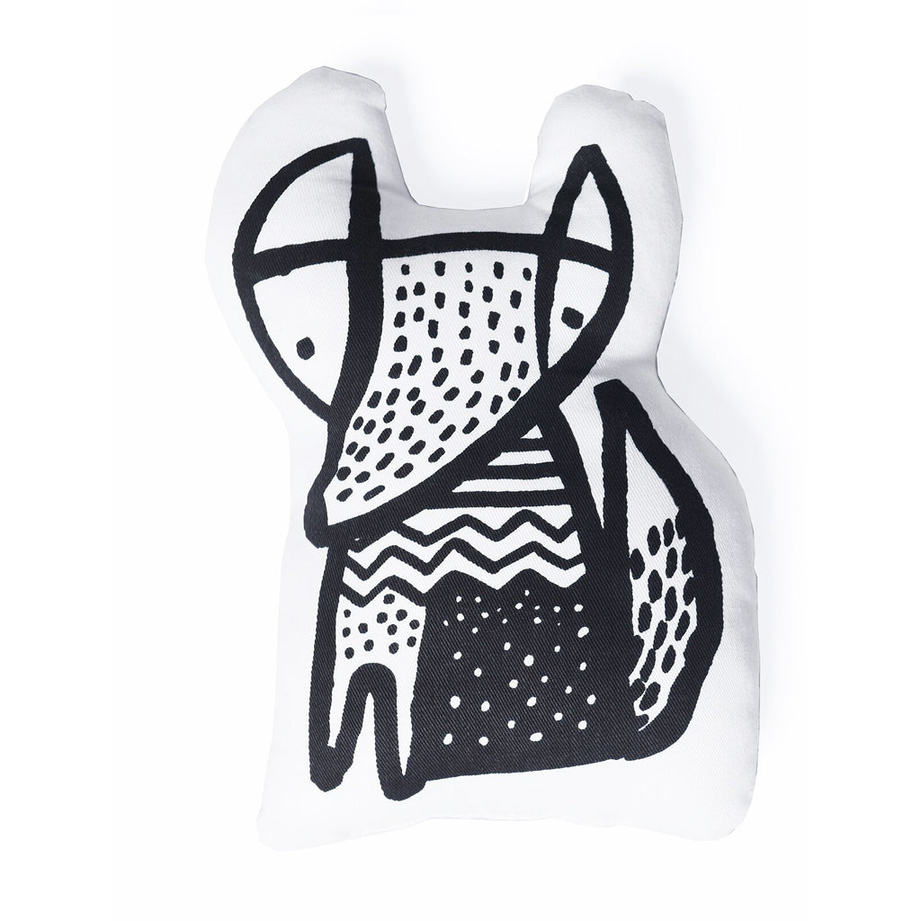 Wee Gallery Organic Throw Pillow - Fox - UrbanBaby shop