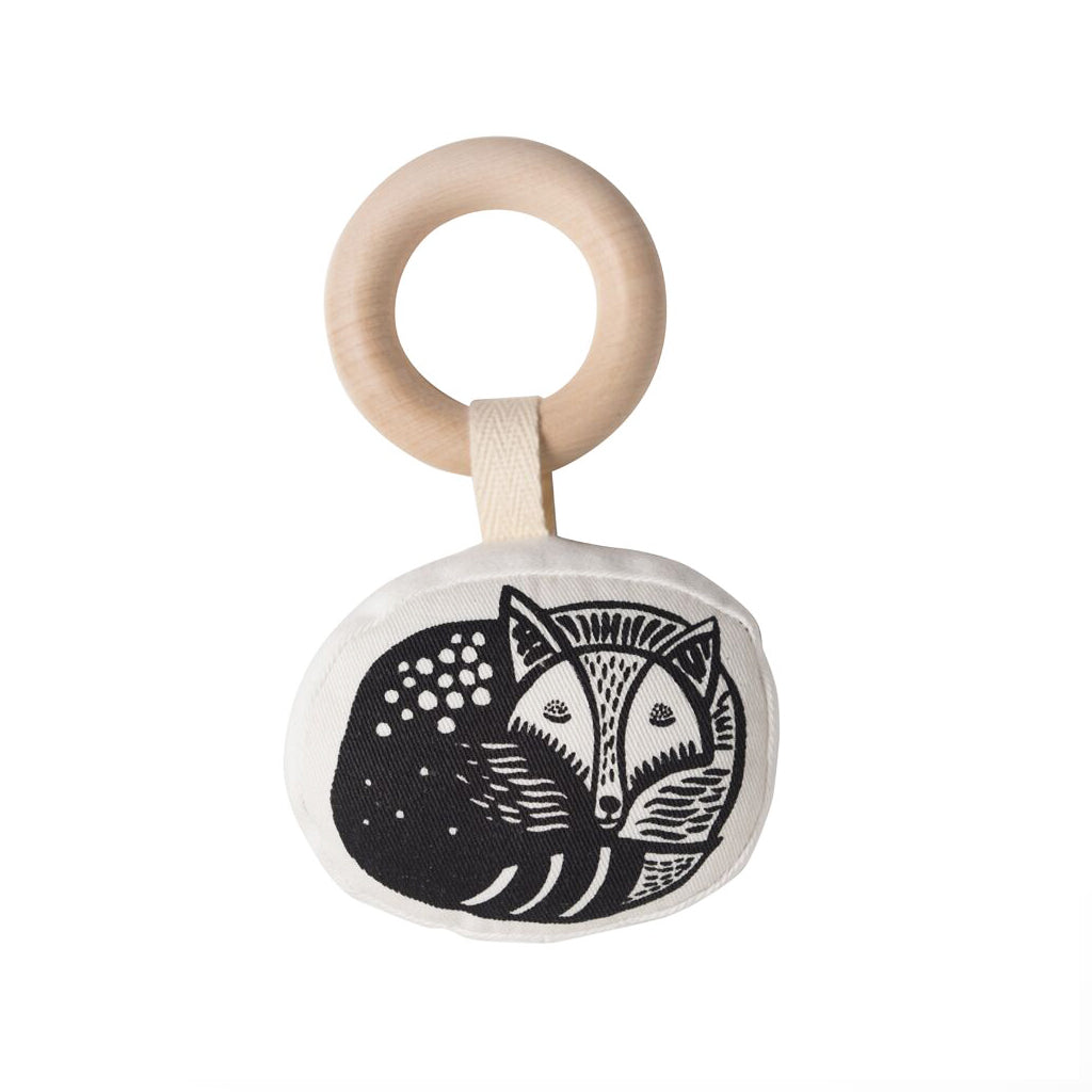 Wee Gallery Organic Rattle Fox