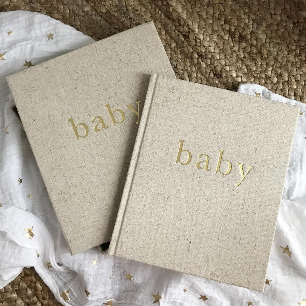 Write to Me Baby Journal Boxed - Natural and Gold