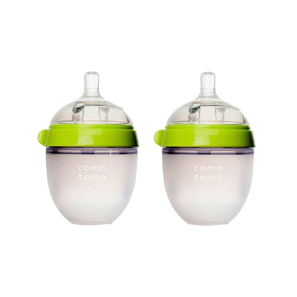 Comotomo Silicone Baby Bottle 150ml 2pk Green
