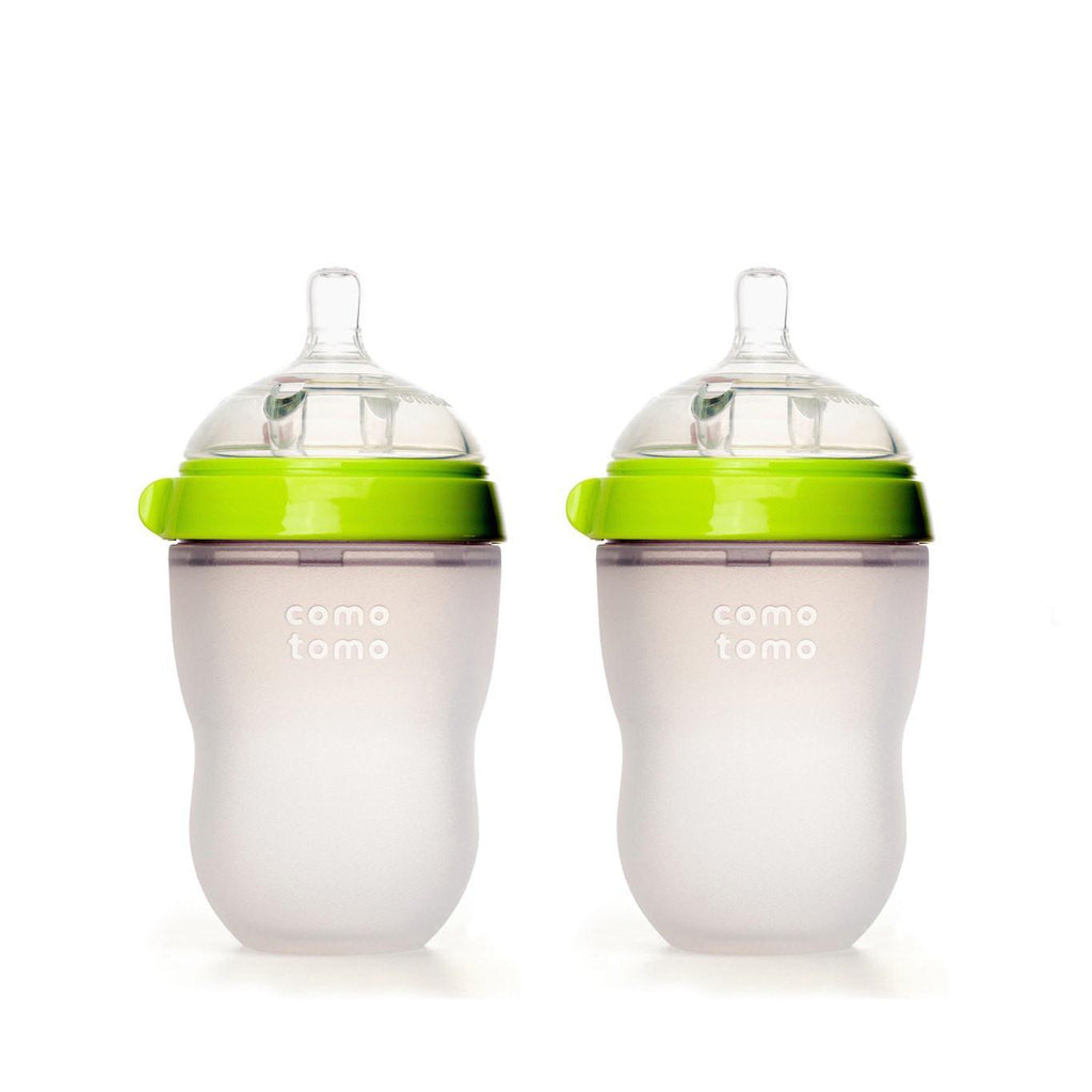 Comotomo Silicone Baby Bottle 250ml 2pk Green