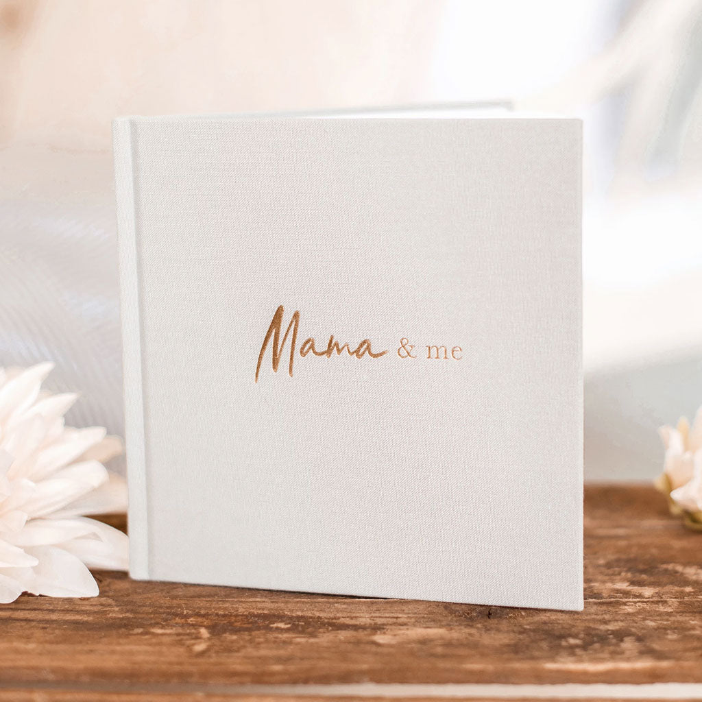 Write to Me Boxed Journal Mama and Me - Grey