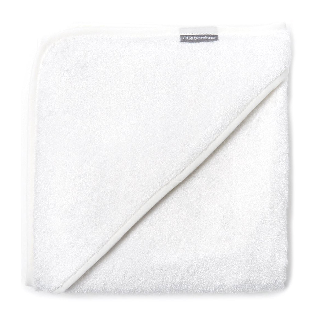 Little Bamboo Hooded Towel White - UrbanBaby shop