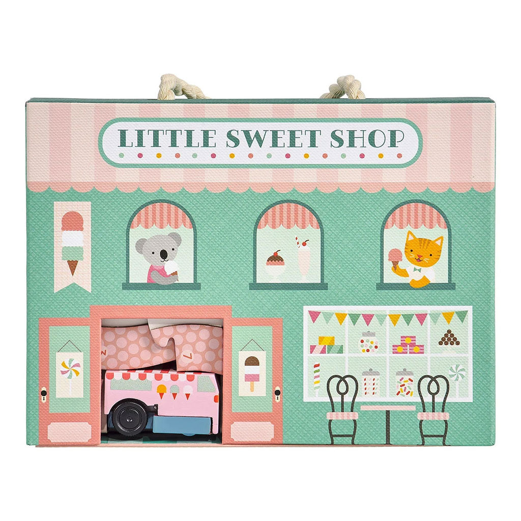 Petit Collage Wind Up and Go Playset - Little Sweet Shop - UrbanBaby shop