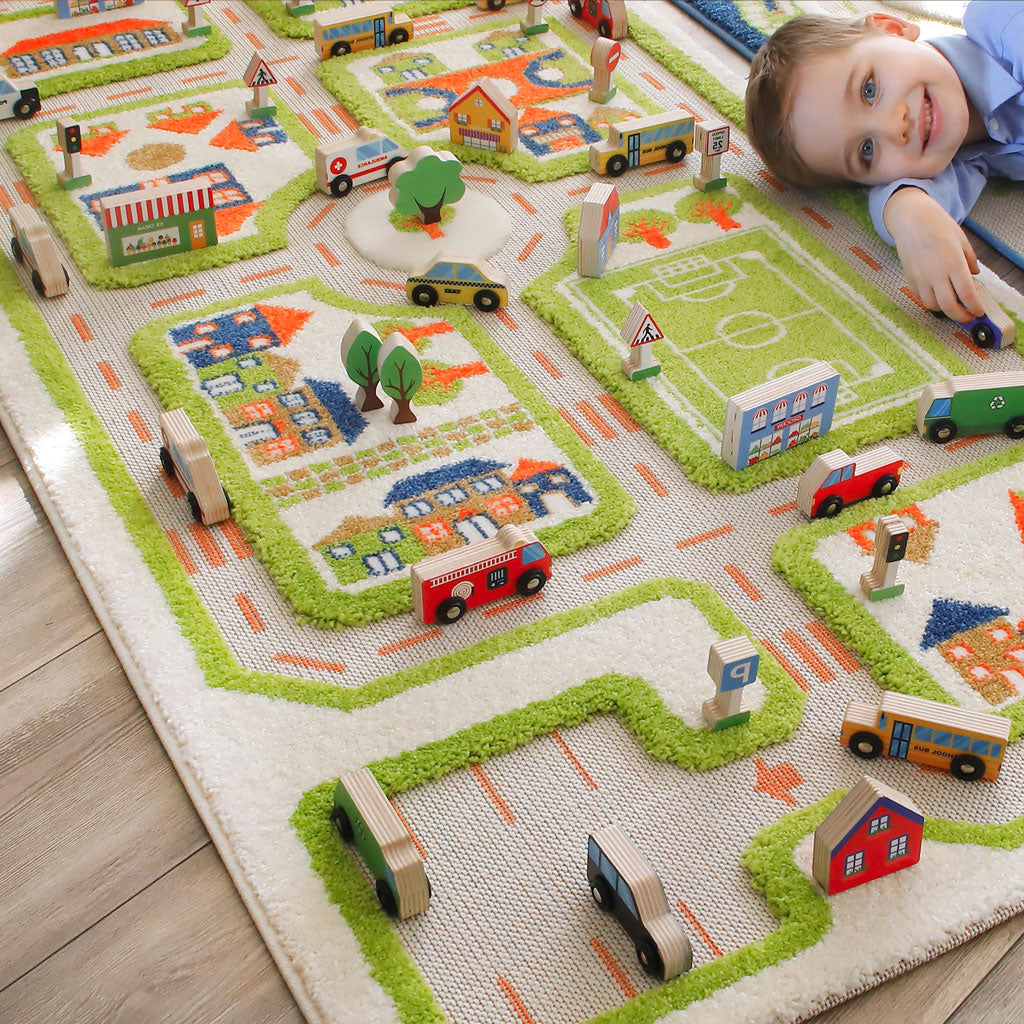 IVI Wooden Play Set - Mini City - UrbanBaby shop